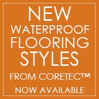 Waterproof Flooring from COREtec available at Castle Floors in Mesa!