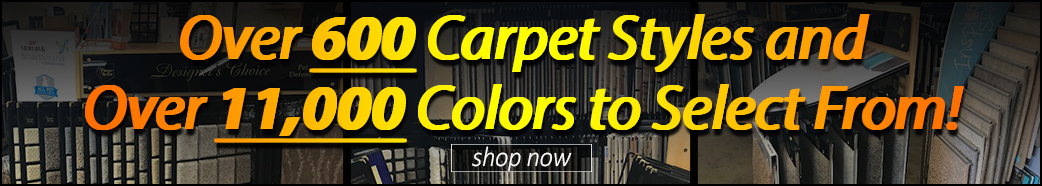 Over 600 styles of carpet in our showroom - visit us in Mesa today!