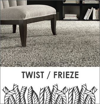 The Twist, also known as Frieze, is a cut style with tight twists that bend away from each other and slightly curl at the end.
